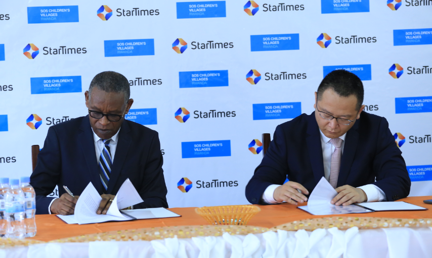 Startimes and SOS Children's Villages Rwanda sign agreement to empower young people